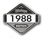 VIntage Edition 1988 Classic Retro Cafe Racer Design External Vinyl Car Motorcyle Sticker 85x70mm